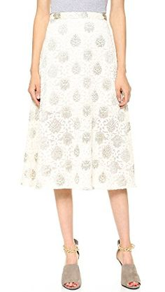 Rebecca Minkoff Womens Durand Skirt, Powder/Metallic, 0 - Click image twice for more info - See a larger selection of  full skirts at http://azdresses.com/category/full-skirts/ - women, womens fashion, fashion ideas, skirts, womens clothing, clothes, mystyle, fashion, gift ideas  « AZdresses.com