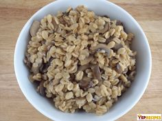 """#vegetarianoom Barley Pilaf - Barley pilaf is a hearty grain used as a healthier """"out of the box"""" substitution for rice. #yeprecipes #food #vegetarian"""