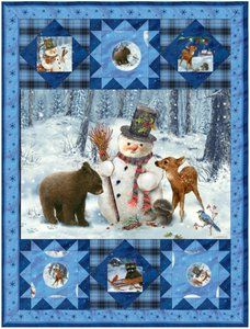 Frosty Friends Quilt Pattern by SPX Fabrics at Bear Creek Quilting Company