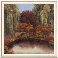 Global Gallery 'Autumn's Glow' by Diane Romanello Framed Painting Print Size: