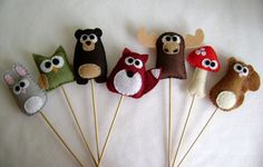 Cupcake toppers, or just toys. These will be easy to make!