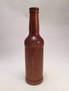 Turned Red Tail beer bottle (bud vase) - neighbor's Acacia stump Bud Vases, Acacia, Beer Bottle, Woodworking, Red, Home Decor, Flower Vases, Decoration Home, Room Decor