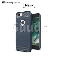 Luxury Carbon Fiber Brushed Wire Drawing Silicone TPU Back Cover for iPhone 8 Plus / 7 Plus 8P 7P(5.5 inch) (Navy)