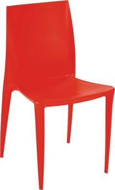 """Designer Modern Bellini Square Dining Chair in Red by Designer Modern. $99.00. Chair features Abs Frame. Red Square Dining Chair. Dimensions: 21""""W x 24""""D x 31.5""""H. Injection molded stacking chair. Seat Height: 18"""". Injection molded stacking chair appropriate for indoor/outdoor commercial, institutional and residential use. The flexing action of the back provides a high degree of comfort. Lightly textured, fully washable surface. The legs provided with pads for hard surface floor..."""