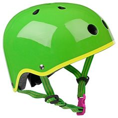Kids' Bike Helmets - Micro Green Helmet with Yellow Trim  Small 4853cm -- To view further for this item, visit the image link.