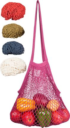 ECOBAGS String Bags Earthtones Collection Long Handle