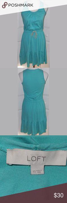 "Ann Taylor Loft Sundress. Women's size XS. Ann Taylor Loft Sundress. Women's size XS. 60% Cotton, 40% Modal. Measures: 17"" pit to pit and 35"" in length. LOFT Dresses"
