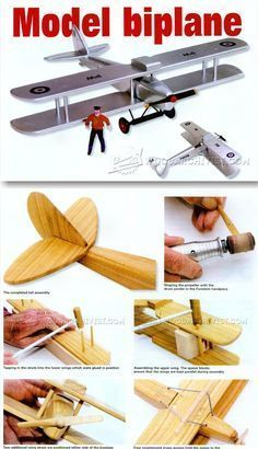 Model Biplane Plans - Children's Wooden Toy Plans and Projects | WoodArchivist.com