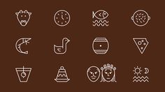Various icon and illustration projects on Behance