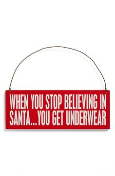 Primitives by Kathy 'When You Stop Believing'  Ornament available at #Nordstrom