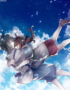 Spirited Away by batensan (I know it's a fictional movie but come on. This is gorgeous.)