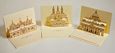 3D Popup Kirigami postcards on Behance