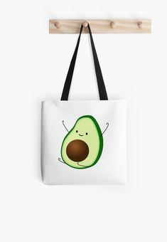 Soft polyester canvas shopping bag with edge-to-edge print on both sides. Fully lined for extra strength. Three sizes to choose from. Printed Tote Bags, Canvas Tote Bags, Painted Canvas Bags, Cotton Tote Bags, Reusable Tote Bags, Cute Avocado, Potli Bags, Diy Tote Bag, Jute Bags
