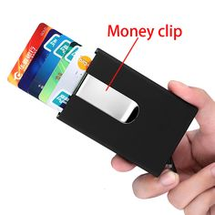 QOONG Travel Card Wallet Automatic Pop Up ID Credit Card Holder Men Women Business Card Case Stainless Steel Metal Clip * Locate this beautiful piece simply by clicking the VISIT button Buy Wallet, Wallet Sale, Rfid Wallet, Pop Up, Business Card Case, Business Cards, Travel Cards, Plastic Card, Bank Card