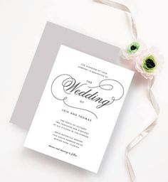 Simple and Clean Wedding Invitation, perfect for the modern couple
