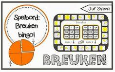 Juf Shanna: Nieuw spelbord: breuken bingo!