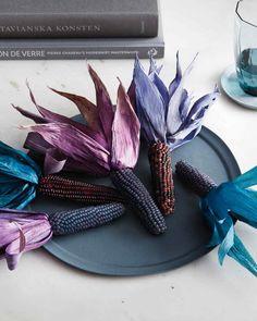 Dyed Corn Husks