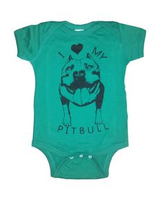 Baby Infant I love my PITBULL Dog bulldog creeper by FreeBirdCloth, $16.00Baby  Infant I love my PITBULL Dog bulldog creeper one piece shirt Onesie Bodysuit 20 Colors