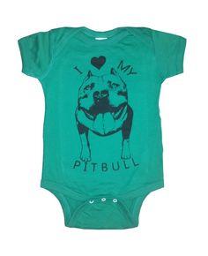 Baby Infant I love my PITBULL Dog bulldog creeper by FreeBirdCloth, $16.00Baby  Infant I love my PITBULL Dog bulldog creeper one piece shirt Onesie Bodysuit 20 Colors