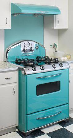 blue retro stove.....