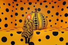 Yayoi Kusama with Pumpkin, 2010Courtesy of Ota Fine Arts, Tokyo/ Singapore and Victoria Miro Gallery