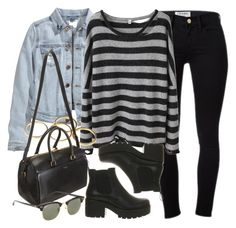 """Style #9627"" by vany-alvarado ❤ liked on Polyvore featuring Frame Denim, Vagabond, H&M, R13, Yves Saint Laurent and Ray-Ban"