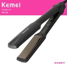 Kemei Plancha de Pelo Planchas de Electrónica profesional de Temperatura Ajustable Portátil De Cerámica Enderezar Plana Herramientas de Peinado