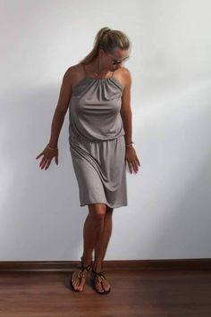 Womens dress, summer dress,beige dress light and loose in colours and sizes One Shoulder, Shoulder Dress, Summer Dresses, Etsy, Stuff To Buy, Vintage, Fashion, Moda, Summer Sundresses