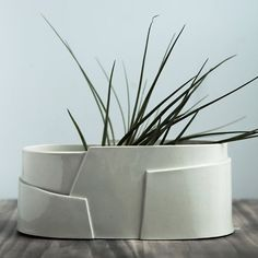 Oval Porcelain Planter  Tiered Collection  Large by taylorceramics, $130.00