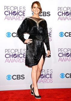 People's Choice Awards 2013: Jennifer Lawrence in a Valentino Couture dress and Nicholas Kirkwood shoes