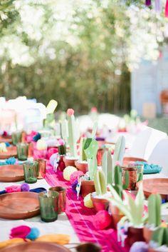 Llama inspired Frida Kahlo birthday   Mexican birthday party   100 Layer Cakelet