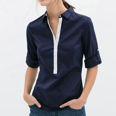 Cheap 2015 verano mujer nueva moda blusas de la gasa ocasional dama blanca Navy Blue remiendo de la manga larga camisas delgadas caliente, Compro Calidad Blusas y Camisas directamente de los surtidores de China: 5 colors 2016 New Women Summer Tight 100% Cotton Elastic Crop Tops Cute Sleeveless T-shirts Lady Sexy Stretchable Croppe