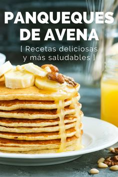 Crepes And Waffles, Oatmeal Pancakes, Healthy Cooking, Cooking Recipes, Healthy Recipes, Tortas Light, Yummy Oatmeal, Breakfast Recipes, Dessert Recipes