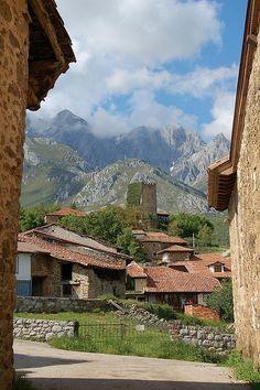 Village of Mogrovejo near Potes in Cantabria Picos de Europa, Spain