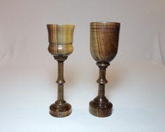 Walnut stemed pair of Goblets