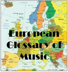 European Glossary of Music - eTwinning project developed in between 26 European countries. It's a music word glossary in 28 European languages. European Languages, European Countries, Music Words, School Projects, Over The Years, Student, College Students, Class Projects