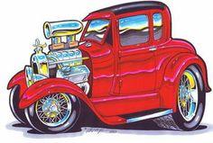 Street Rod Cartoons | ... information about 1933 Ford Hot Rod Art Print Hot Rod Auto Art Gallery