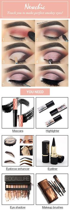 Newchic teaches you to make perfect smokey eyes! Giving you a super sexy look!...