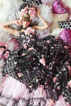 Today's pretty pink wedding dresses are from Peachy Girl Japan bridal collection. Below, dusty rose and black Colored Wedding Dresses, Wedding Dress Styles, Bridal Collection, Dress Collection, Bridal Gowns, Wedding Gowns, Wedding Bride, Moda Lolita, Beauty And Fashion