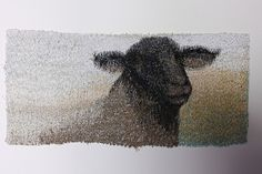 Sheep series Suffolk by claire badcock - machine embroidery via Flickr