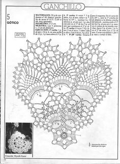 "Photo from album ""Związane serwetki"" on Yandex. Crochet Doily Diagram, Crochet Square Patterns, Crochet Borders, Crochet Stitches Patterns, Tatting Patterns, Crochet Motif, Crochet Books, Crochet Home, Thread Crochet"