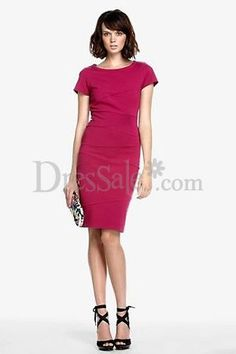 Clingy Short Sleeves Cocktail Dress