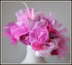 dameshoed roze/fuchsia   hoeden carnaval   btstyling Floral, Flowers, Fit, Image, Carnival, Hard Hats, Sombreros, Shape, Royal Icing Flowers