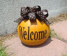 Halloween porch decorations.