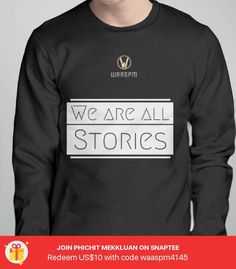 We are all Stories Ws - Pullover Sweatshirt - designed by waas_pm using Snaptee
