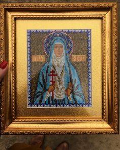 My job ☺️ Gift for sister💛 #готоваяработа #икона #святаяелисавета