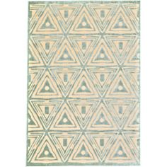 Anchor a boho-chic space or add a pop of pattern to the master suite with this art silk and chenille rug, showcasing a tessellated geometric motif in cream a...