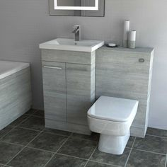 Toilet And Basin Unit, Toilet Vanity Unit, Bathroom Sink Units, Sink Vanity Unit, Small Bathroom Vanities, Tiny Bathrooms, Bathroom Design Small, Bathroom Layout, Vanity Units