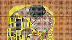El beso de Klimt cruz puntada patrón PDF carta por ArtbyMariana