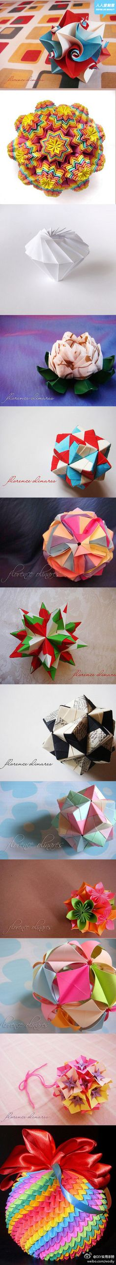 paper folding - modular origami - love this stuff!